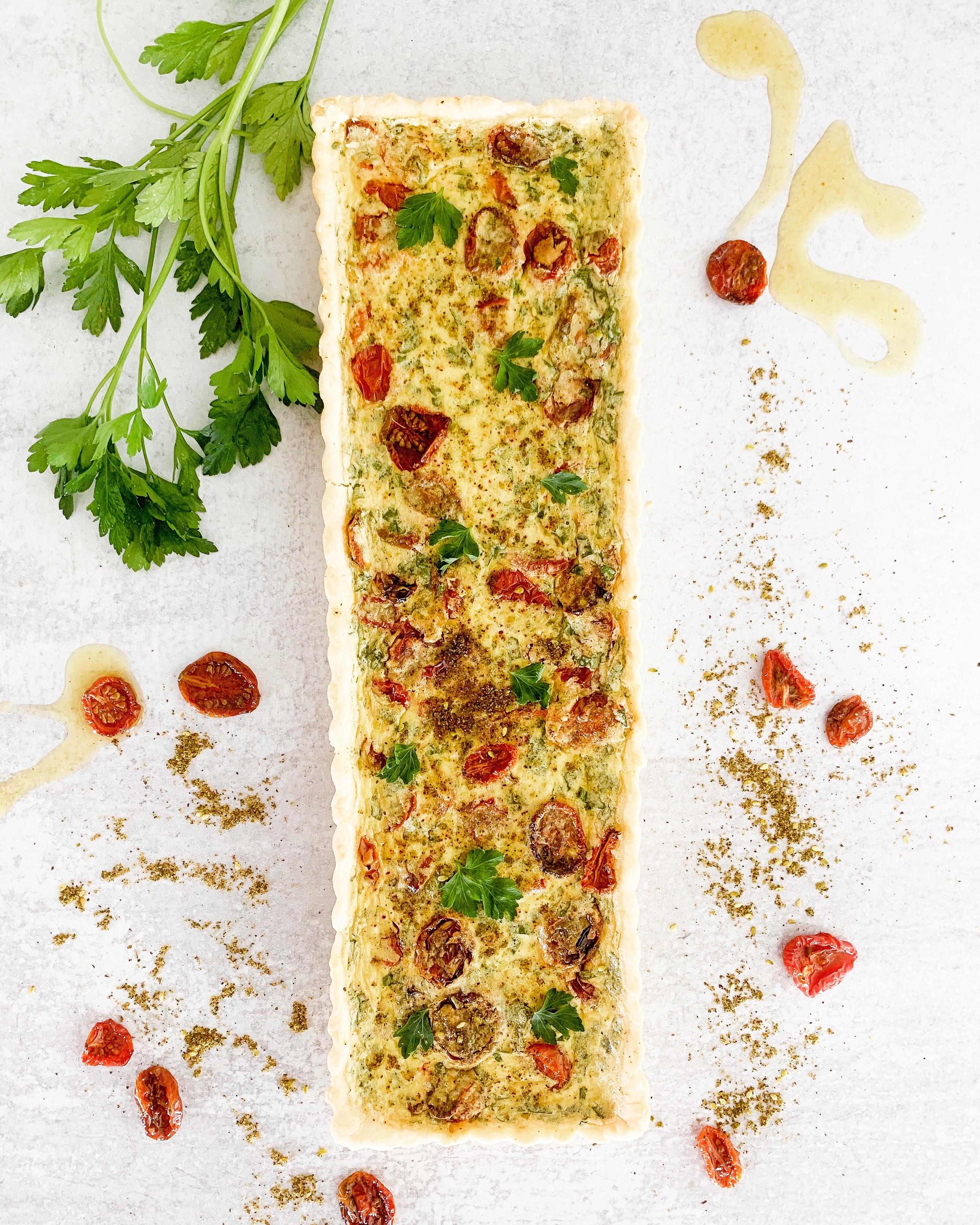 Za'atar and Roasted Tomato Quiche
