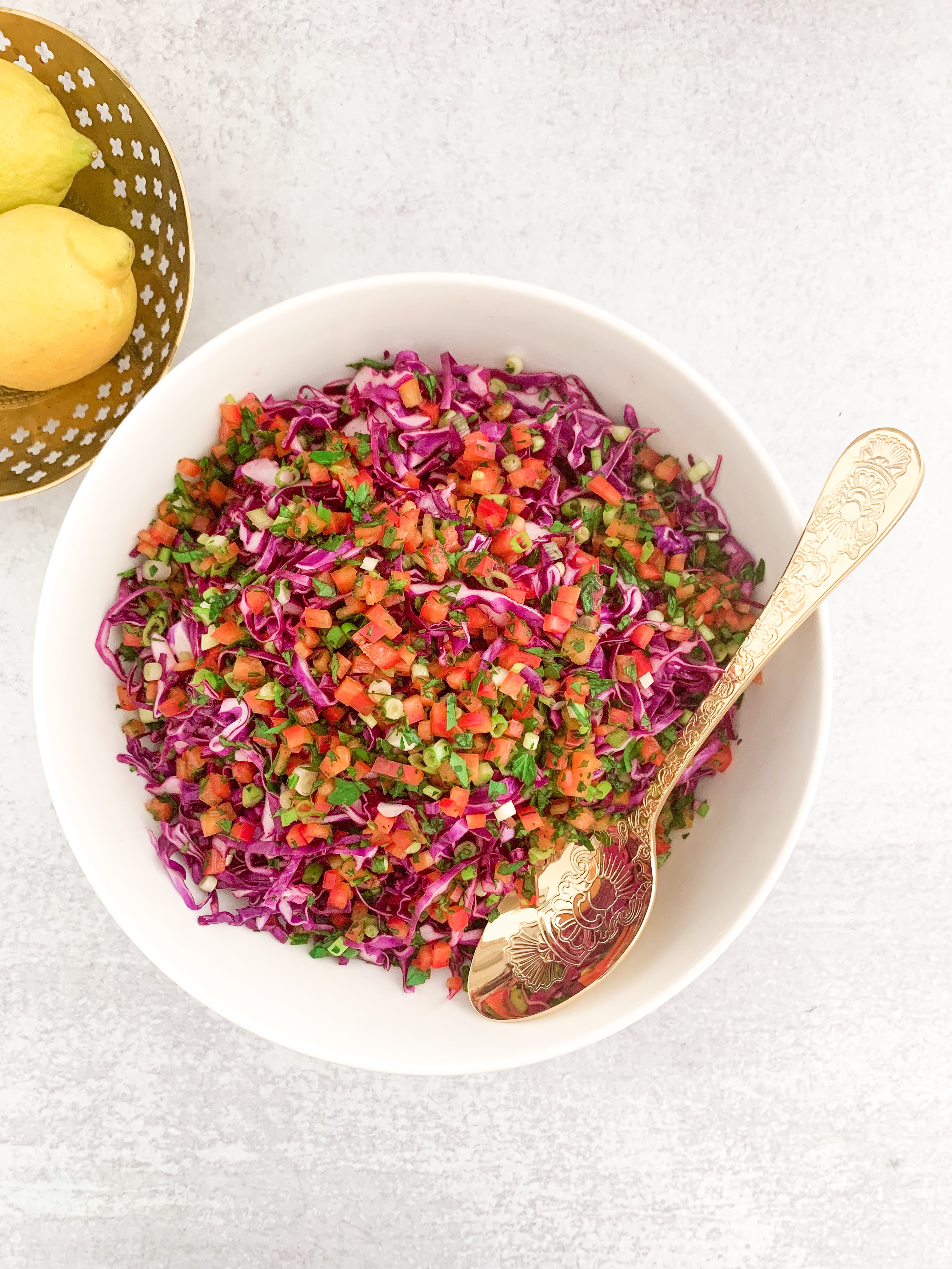 Malfouf Salad - Lebanese Red Cabbage Salad