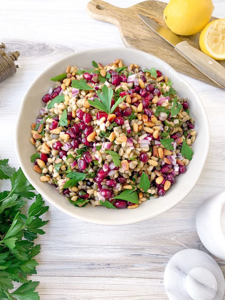 Farro and Green Lentil Salad