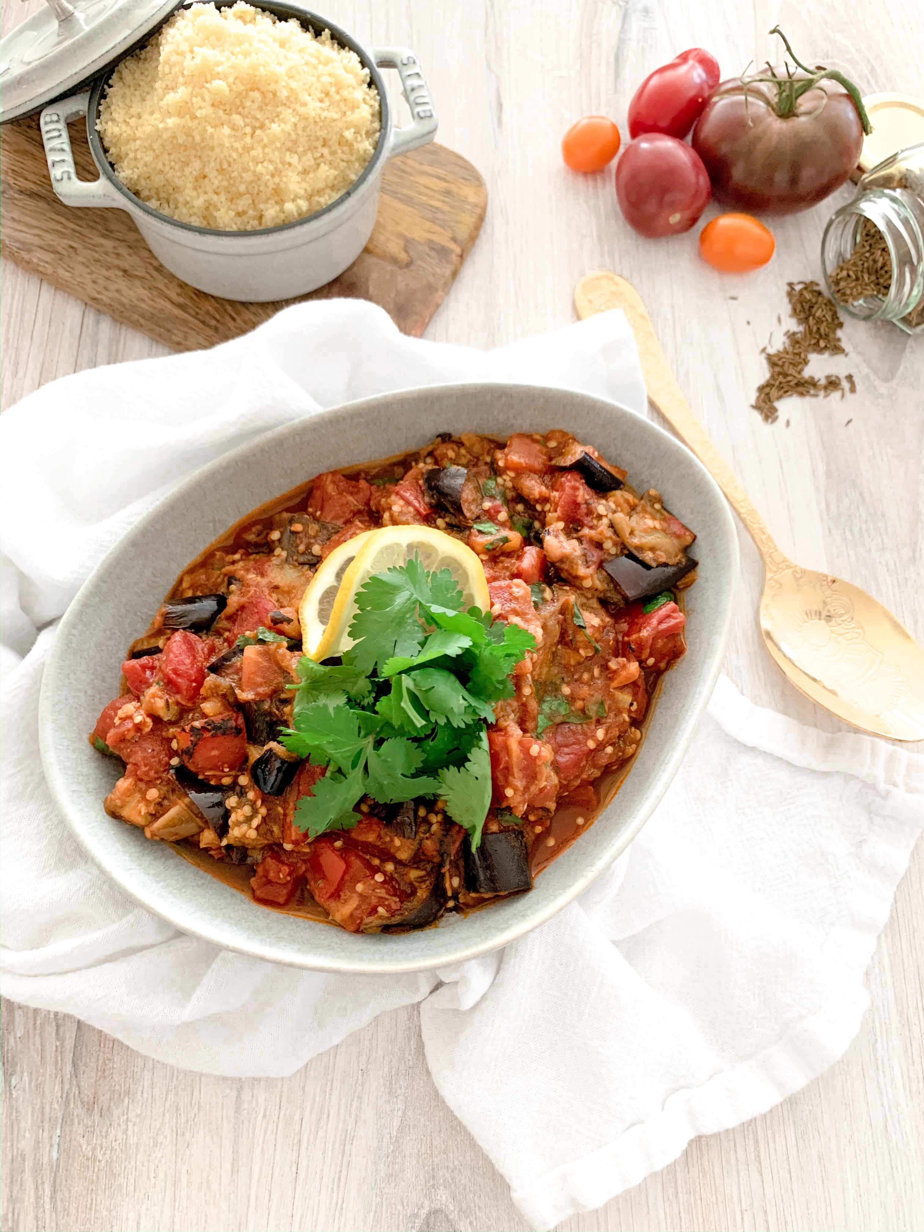 Zaalouk (Moroccan Aubergine and Tomato Salad)