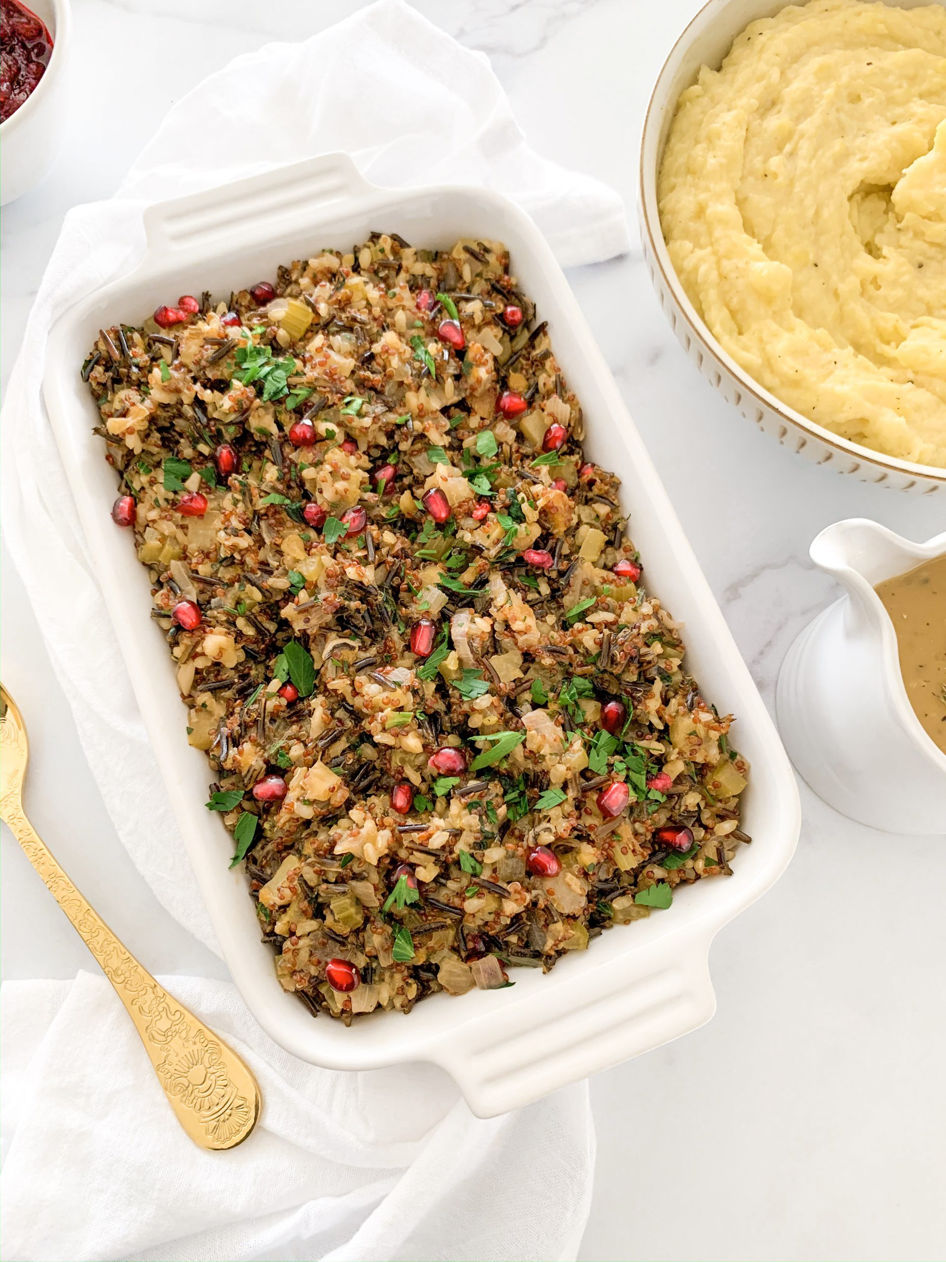 Jeweled Wild Rice and Quinoa Stuffing