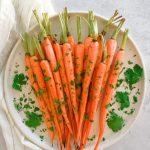 Glazed Carrots with Coriander and Honey